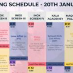 IFFI-51 Screening Schedule