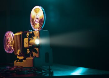 vintage-film-projector-and-film-screening